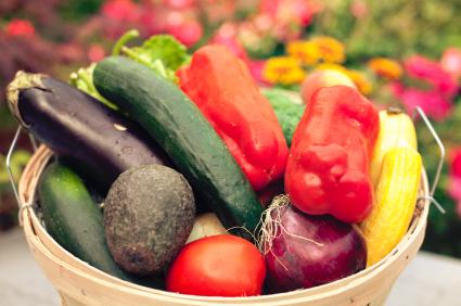 Normal italian vegetable kabobs