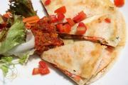 Block salmon quesadilla