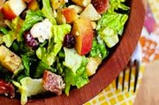 Block apple  chicken and bacon salad