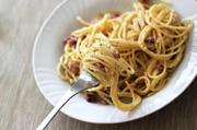 Block bacon basil pasta