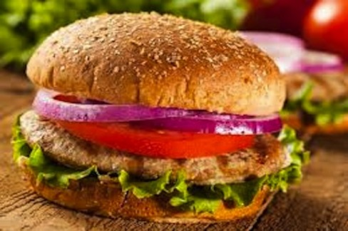 Normal grilled turkey burger