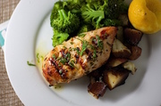 Block grilled ginger soy chicken
