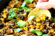 Block mexican brown rice skillet